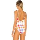 Maillot de bain triangle une pice  carreaux de couleur  la mode en gros NHHL335755