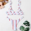 fashion vertical strip printing bikini  NHHL335767