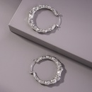 simple geometric circle earrings NHMD336187