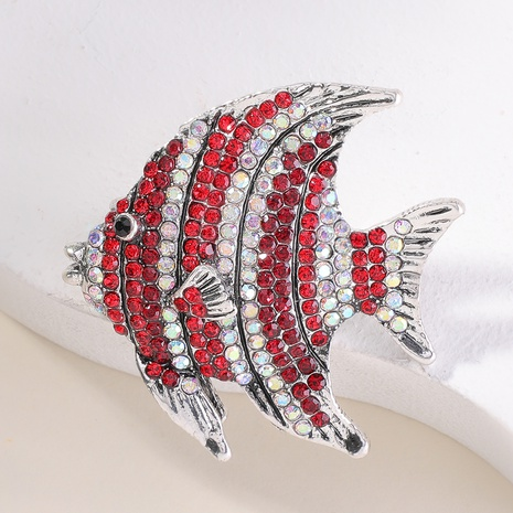 fish-shaped diamond brooch NHMD336185's discount tags