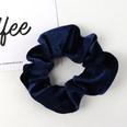 NHAMD1554673-Pure-Color-Flannel-Hair-Tie-Navy-Blue