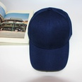 NHAMD1554651-Velcro-curved-brim-hat-navy-blue-adjustable