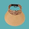 NHAMD1554877-Leopard-Print-Empty-Straw-Hat-Khaki-M-(56-58cm)