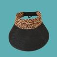 NHAMD1554878-Leopard-Print-Empty-Straw-Hat-Black-M-(56-58cm)