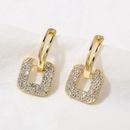 creative diamond square earrings NHGY336173
