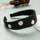 Retro Baroque Handmade Beaded Polkadot Rice Beads Hairband NHLN336164