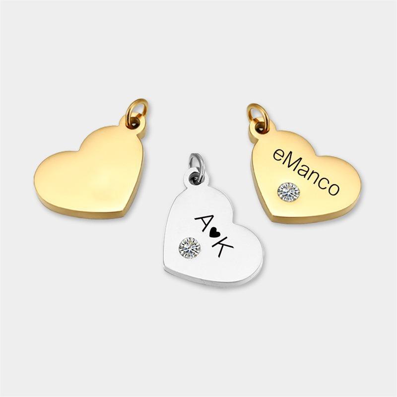 Modische herzfrmige Halskette Accessoires aus Edelstahldiamant NHTF335851