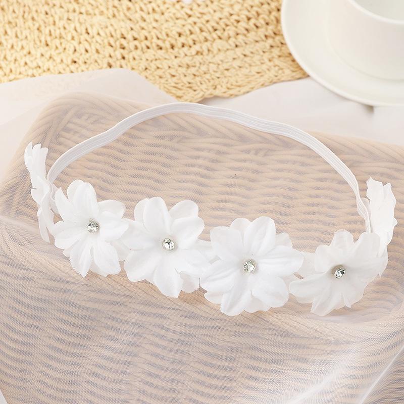 Korean flower pearl headband NHAU335855