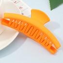 Korean fluorescent color frosted resin shark clip  NHAU335854