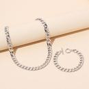 Ensemble de bracelet collier en mtal empil hiphop NHRN335884