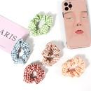 Korean plaid hair scrunchies NHAMD335896