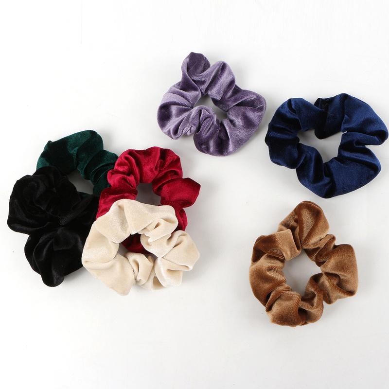 Korean solid color hair scrunchies wholesale NHAMD335901