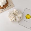 fashion twocolor smiling face hair scrunchies NHMS335911