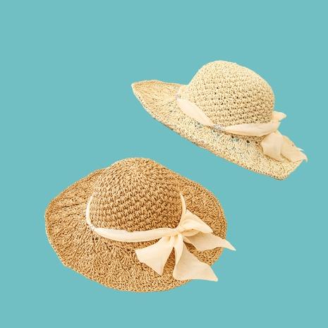 Sombrero de paja de protección solar de sombrilla de ala ancha de cúpula de moda NHAMD335937's discount tags