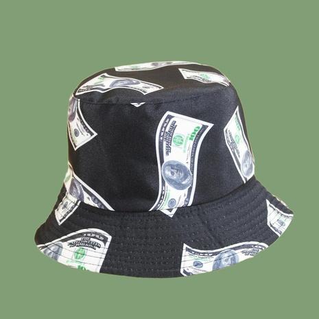 Fashion printing dollar sunscreen fisherman hat NHAMD335949's discount tags