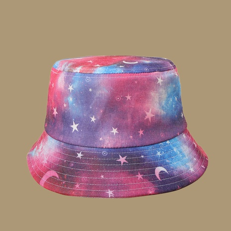 Fashion pink moon star sunshade fisherman hat NHAMD335952's discount tags