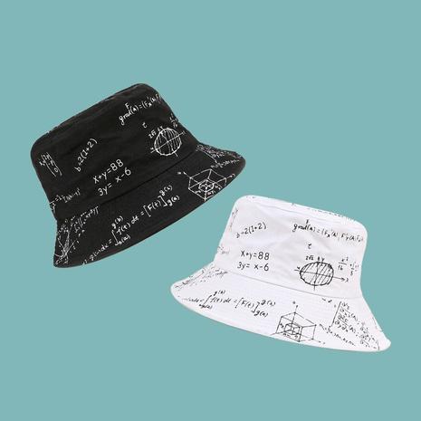 Fashion mathematical formula wide brim sunshade fisherman hat NHAMD335959's discount tags