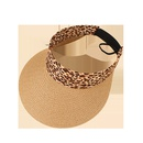 Fashion sunshade leopard print sunscreen empty top straw hat NHAMD335958