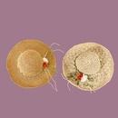Korean style flower rattan widebrimmed sunshade handmade straw hat  NHAMD335956
