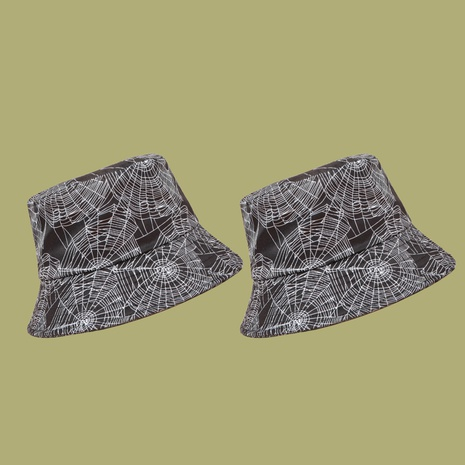 Sombrero coreano del pescador de la sombrilla de la impresión de la tela de araña NHAMD335967's discount tags