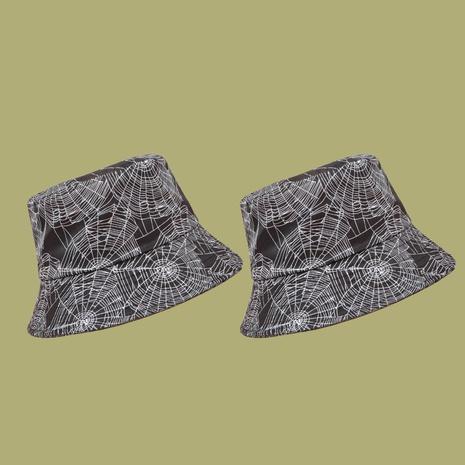 Korean spider web printing sunshade fisherman hat NHAMD335967's discount tags