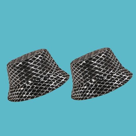 Sombrero de pescador con sombrilla de lentejuelas de diamantes de moda NHAMD335969's discount tags