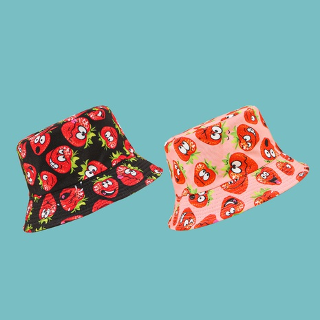 Korean strawberry expression sunshade fisherman hat NHTQ335972's discount tags