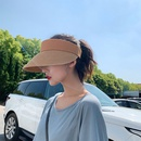 Fashion sunshade sunscreen empty top straw hat NHALD335980