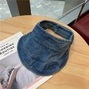 Korean cowboy empty top suncreen hat wholesale NHALD335989
