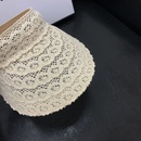 Fashion lace woven breathable empty top hat wholesale NHALD335990
