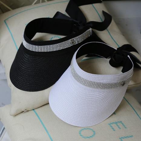 Cinta de moda arco sombrero de paja superior vacío NHALD335998's discount tags