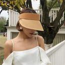Fashion straw woven sunscreen empty top hat NHALD336003