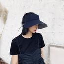 Korean doublesided empty top plaid sunshade cap NHALD336011
