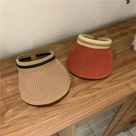 Sombrero protector solar superior vacío tejido de moda NHALD336019's discount tags