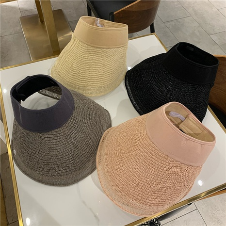 Sombrero plegable de protección solar de hilo de algodón superior vacío NHALD336021's discount tags
