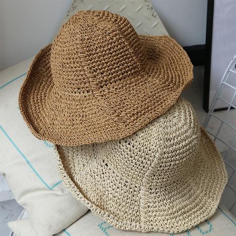 Sombrero de paja respirable del pescador de la sombrilla plegable de la moda NHALD336034's discount tags