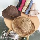 Fashion sunscreen folding big brim bowknot straw hat NHALD336035