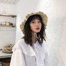 Korean wave side shade bandage straw hat NHALD336041