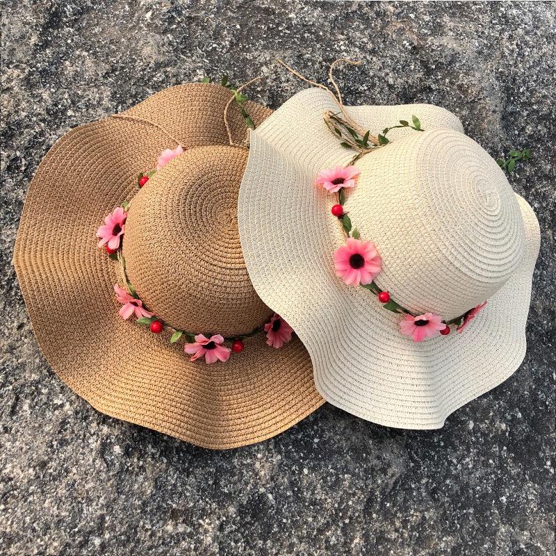 Fashion big brim sunshade sunscreen straw hat NHANS336049