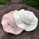 Korean pearl big brim sunscreen straw hat NHANS336052