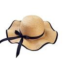 Korean bowknot sunshade sunscreen straw hat NHANS336053