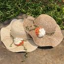 Fashion flower big eaves sunscreen straw hat NHANS336057