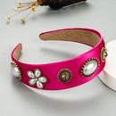 Korean new simple pearl flower headband NHLN336161