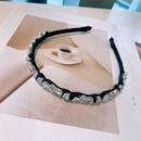 fashion rhinestone zircon leaf hair band  NHHD336062