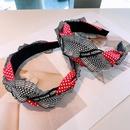Korean contrast color wide headband  NHHD336065