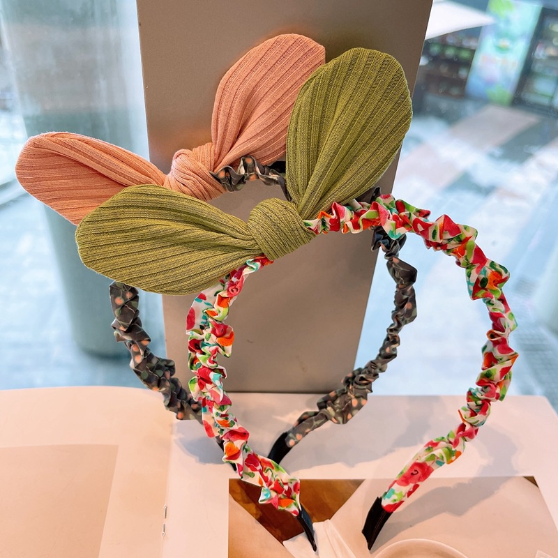 fashion floral threedimensional bowknot headband  NHHD336067