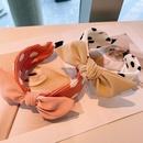 Korean big polka dot bow headband NHHD336076