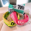 fashion letter color matching wide headband  NHHD336078