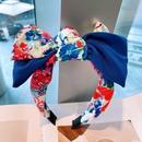 fashion big flower color matching headband  NHHD336087