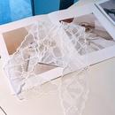 Fashion lace streamer long scarf headband NHHD336091